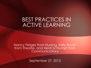 BEST PRACTICES IN ACTIVE LEARNING
