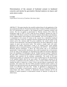 Determination  of  the  amount  of ... concrete and mortar by gravimetric thermal analysis on macro and