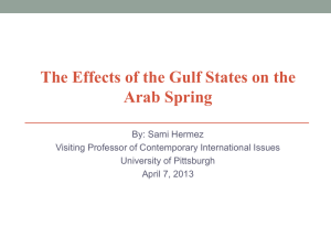 The Effects of the Gulf States on the Arab Spring
