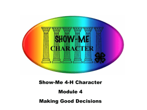 Show Me Character Module 4 (ppt)