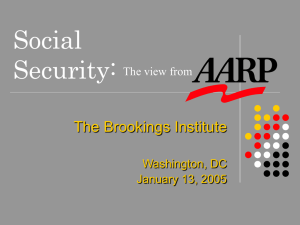 Social Security: The View from AARP (presentation by John Rother)