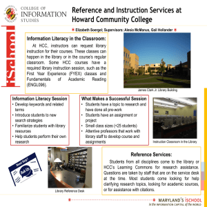 Reference and Instruction Services at Howard Community College