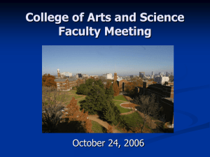 Dean Richard McCarty's State of the College Address 2006