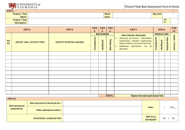 Project Task Risk Assessment Form Guide