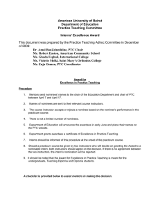 Practice Teaching Award Document