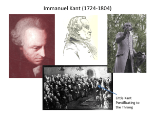 Immanuel Kant (1724-1804) Little Kant Pontificating to the Throng