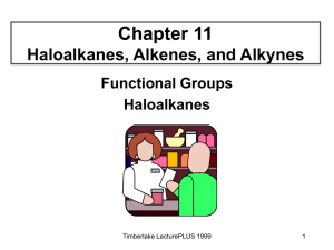 Haloalkanes and functional groups