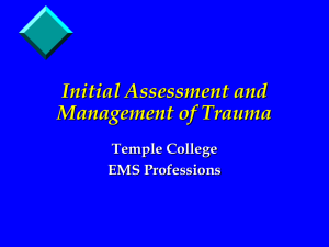 Initial Trauma Assessment