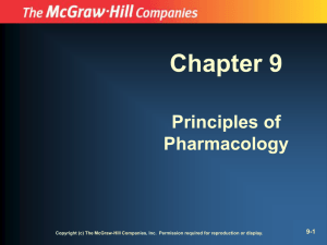 Chapter 9 Principles of Pharmacology 9-1