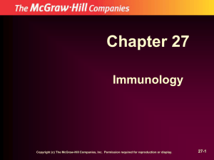Chapter 27 Immunology 27-1