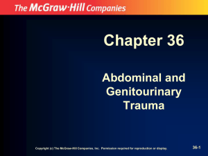Chapter 36 Abdominal and Genitourinary Trauma
