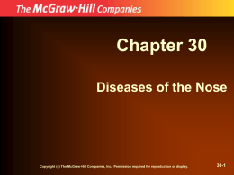 Chapter 30 Diseases of the Nose 30-1