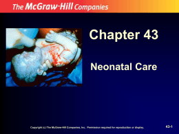 Chapter 43 Neonatal Care 43-1