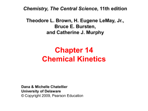 Chapter 14 Chemical Kinetics Chemistry, The Central Science