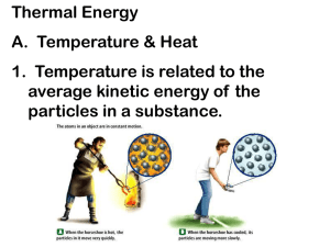 Specific heat and thermal energy