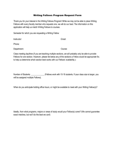 Writing Fellows Request Form