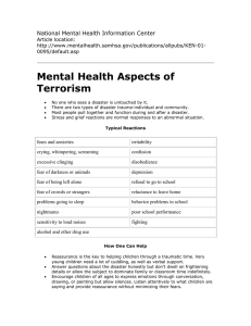 Mental Health Aspects of Terrorism