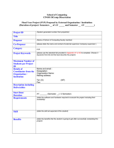 FYP Project Proposal Form by External Organisations