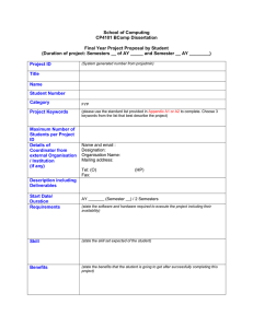 FYP Project Proposal Form by Students