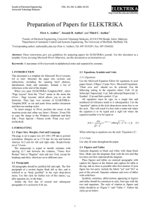 Template for Jurnal Elektrika