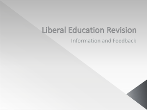 Liberal Education Revision Ideas PowerPoint