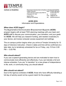 ACES Frequently Asked Questions