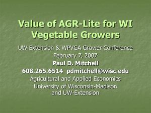 Value of AGR-Lite for Wisconsin Growers (Feb 2007)