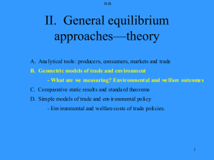 II B. Simple models of trade and environmental policy.