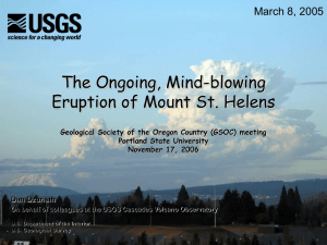 The Ongoing, Mind-blowing Eruption of Mount St. Helens March 8, 2005