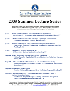 2008 Summer Lecture Series