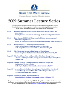 2009 Summer Lecture Series