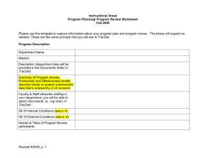 Program Plan/Program Review Worksheet - Instructional