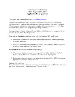 ohio northern university application essay