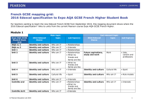 2016-Edexcel-spec-to-Expo-AQA-GCSE-French-Higher (DOC, 195 KB)
