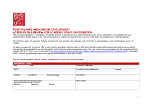 Probation Form for Academic Staff (word)