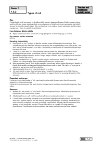 Go Science 1 Teacher and technician activity notes - Types of cells