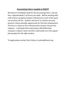 Accounting Intern needed at NACET