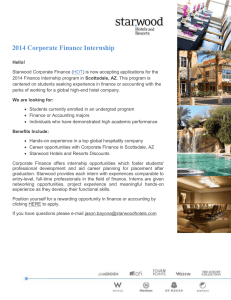 2014 Corporate Finance Internship