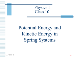 Potential Energy and Kinetic Energy in Spring Systems Physics I