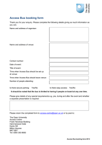 Access Bus booking form