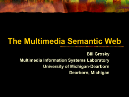 Multimedia Semantic Web
