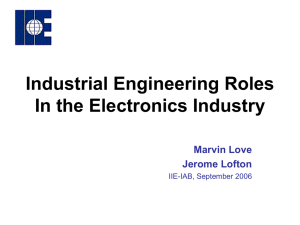 IE Electronic Industry Roles Oct. 19, 2006