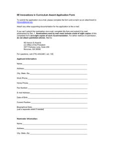 IIE Innovations in Curriculum Award Application Form