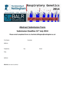 Abstract Submission Form Submission Deadline 31 July 2014 Please email completed forms to