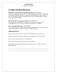 11. Other Pertinent Resources Land Steward Resource Notebook