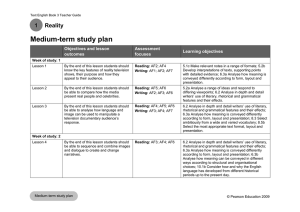 Text 3, Unit 1, Medium-term plan