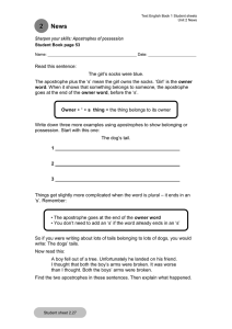 Sharpen your skills: Apostrophes - Student Activity Sheets (editable) (DOC, 34 KB)
