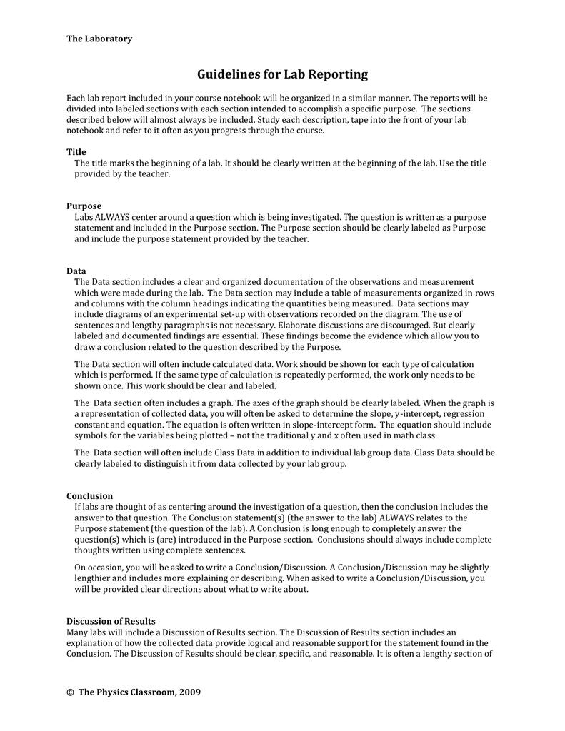 professional report writing sample