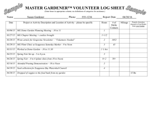 MASTER GARDENER™ VOLUNTEER LOG SHEET  Name Susan Gardener