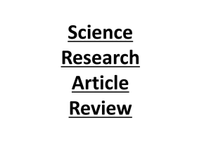 PPT on Article Review Assignment AND Citefast.com